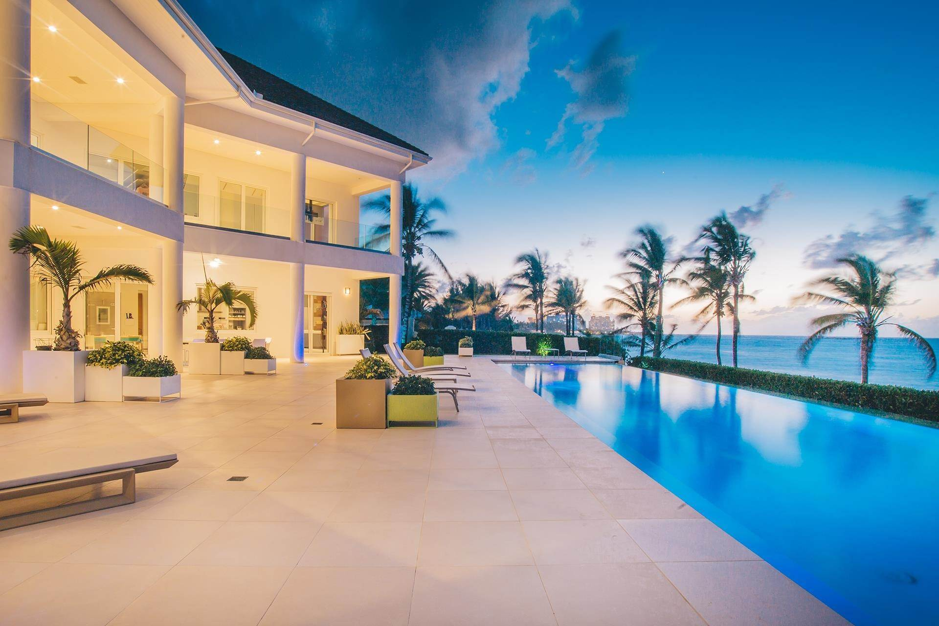 Single Family Homes for Sale at 3 North Shore Terrace, A Contemporary Masterpiece Ocean Club Estates, Paradise Island, Nassau And Paradise Island Bahamas