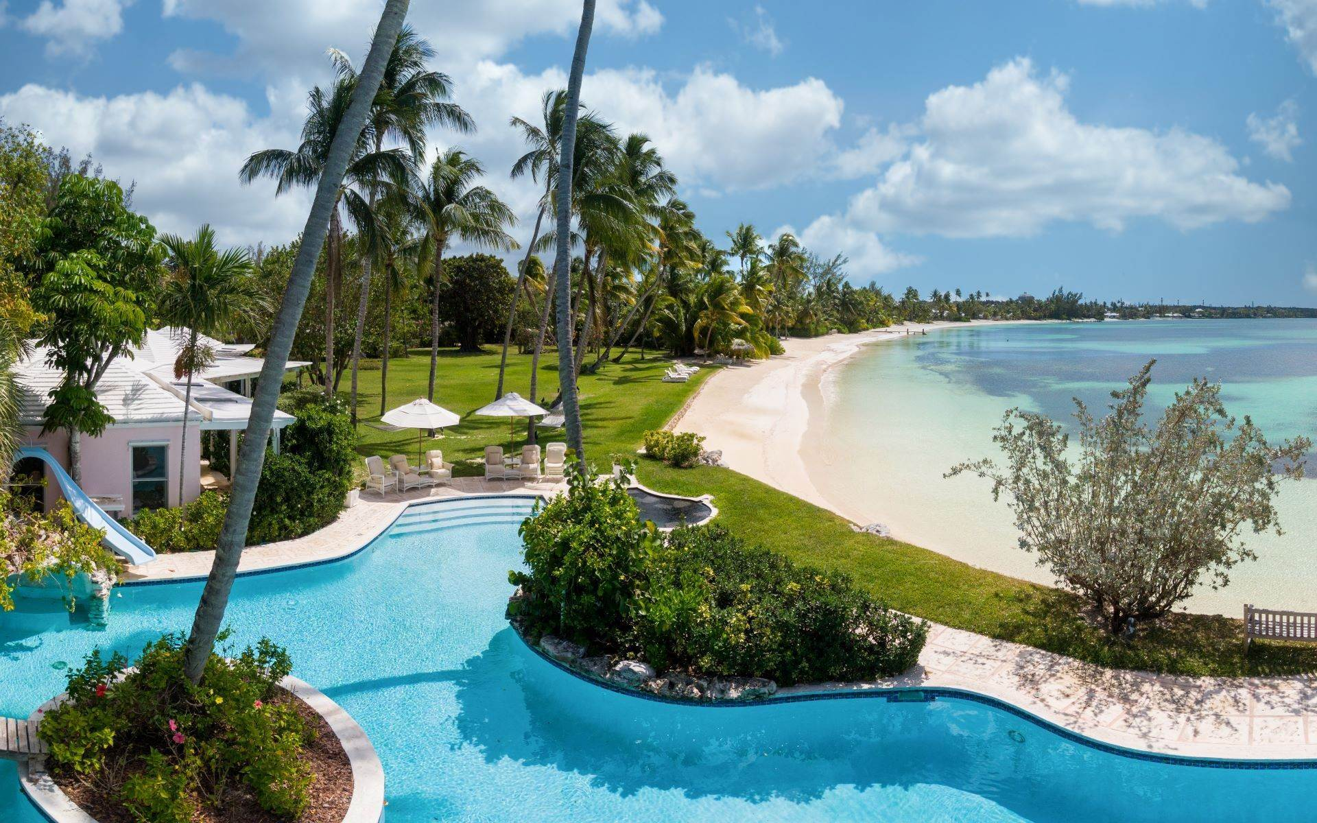 Single Family Homes for Rent at Magnificent Lyford Cay Beachfront Estate Lyford Cay, Nassau And Paradise Island, Bahamas