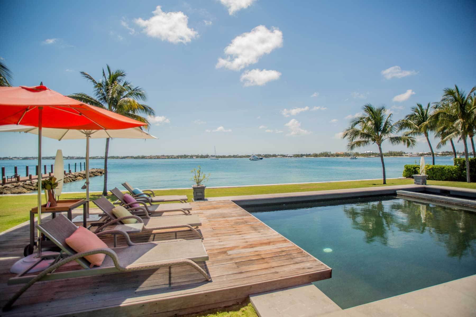 Single Family Homes for Sale at Private Waterfront Villa in famed Ocean Club Estates Ocean Club Estates, Nassau And Paradise Island, Bahamas