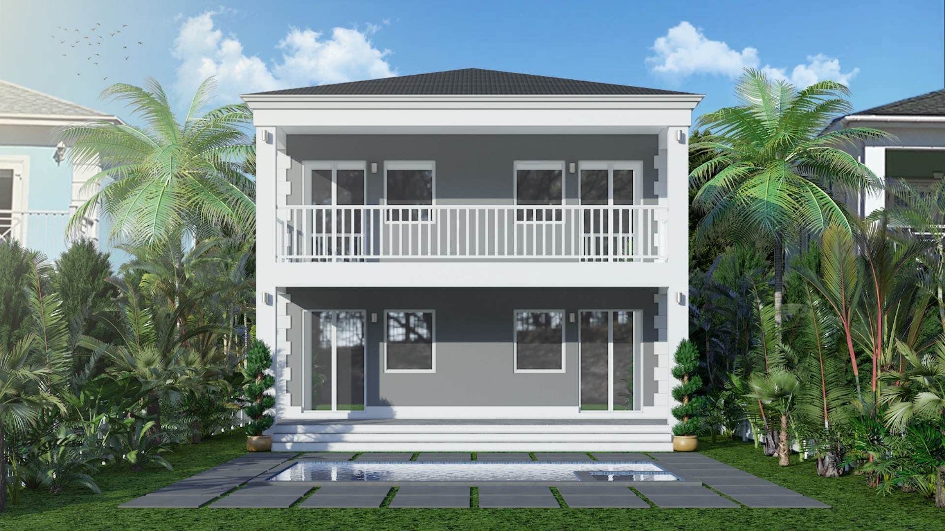 Single Family Homes for Sale at Grand Contemporary Home in Sandyport Sandyport, Cable Beach, Nassau And Paradise Island Bahamas