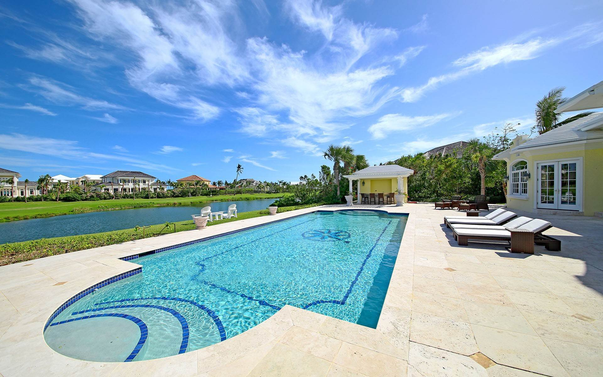 24. Single Family Homes for Rent at Ocean Club Estates home on large lot with Panoramic views Ocean Club Estates, Paradise Island, Nassau And Paradise Island Bahamas