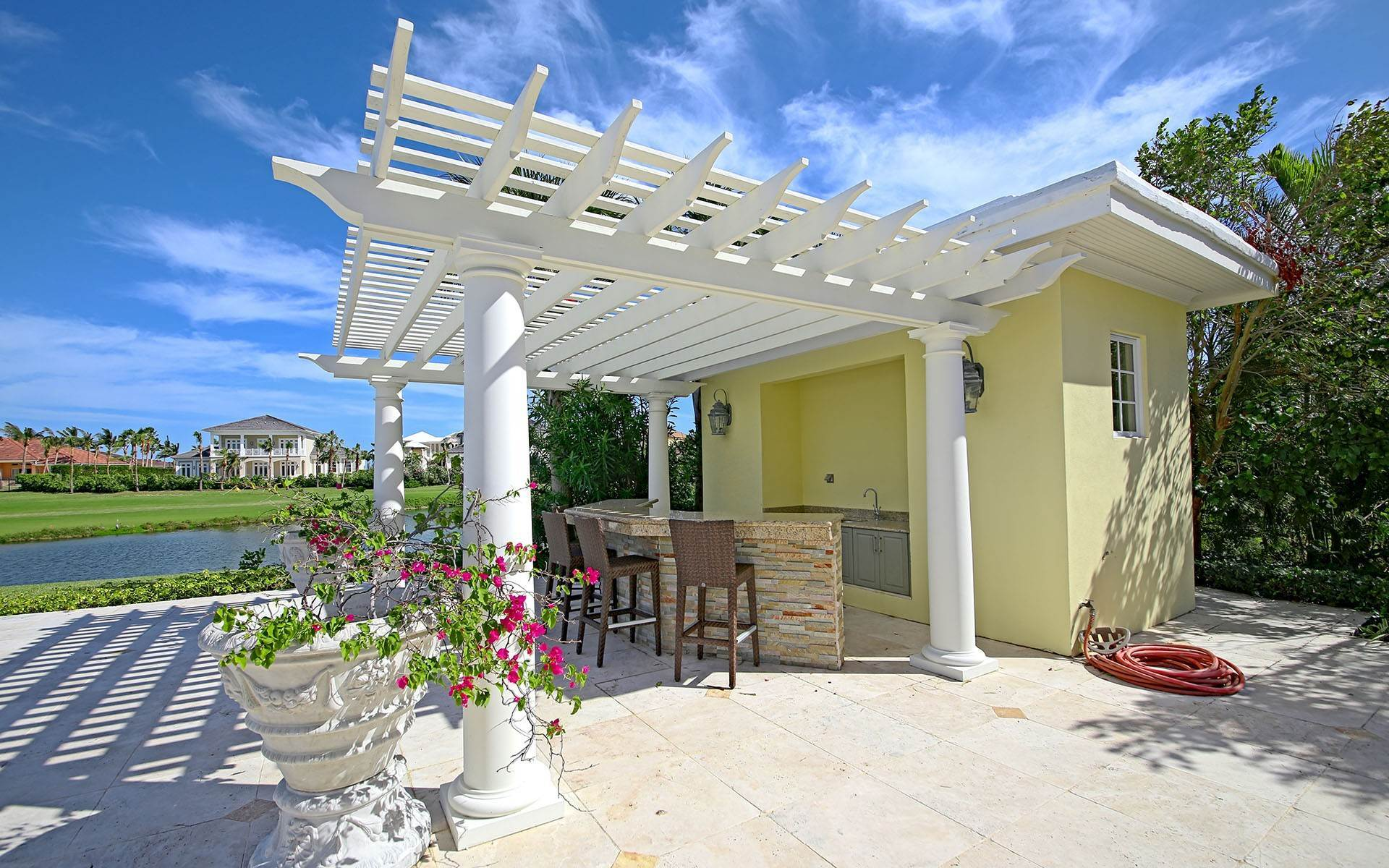 29. Single Family Homes for Rent at Ocean Club Estates home on large lot with Panoramic views Ocean Club Estates, Paradise Island, Nassau And Paradise Island Bahamas