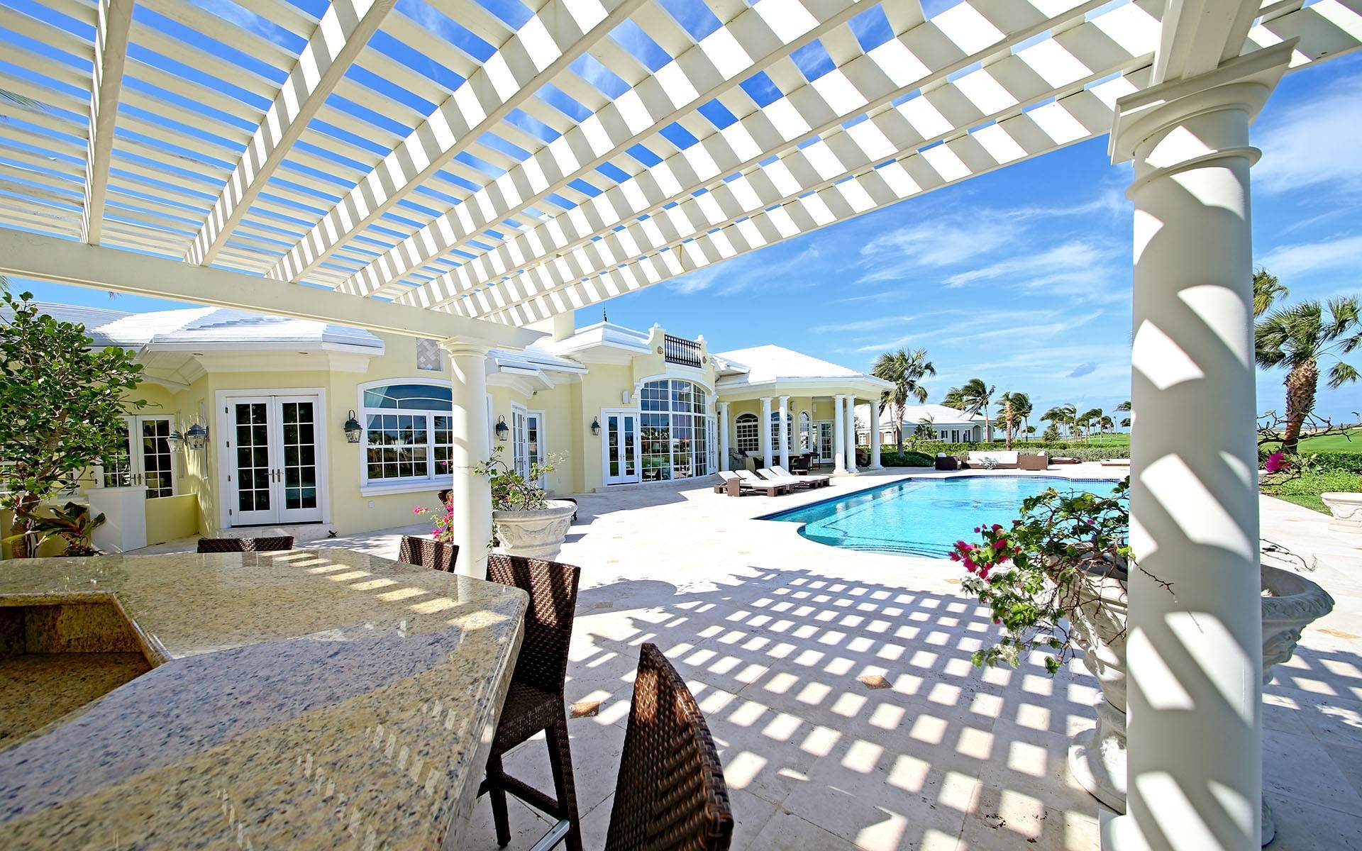 30. Single Family Homes for Rent at Ocean Club Estates home on large lot with Panoramic views Ocean Club Estates, Paradise Island, Nassau And Paradise Island Bahamas