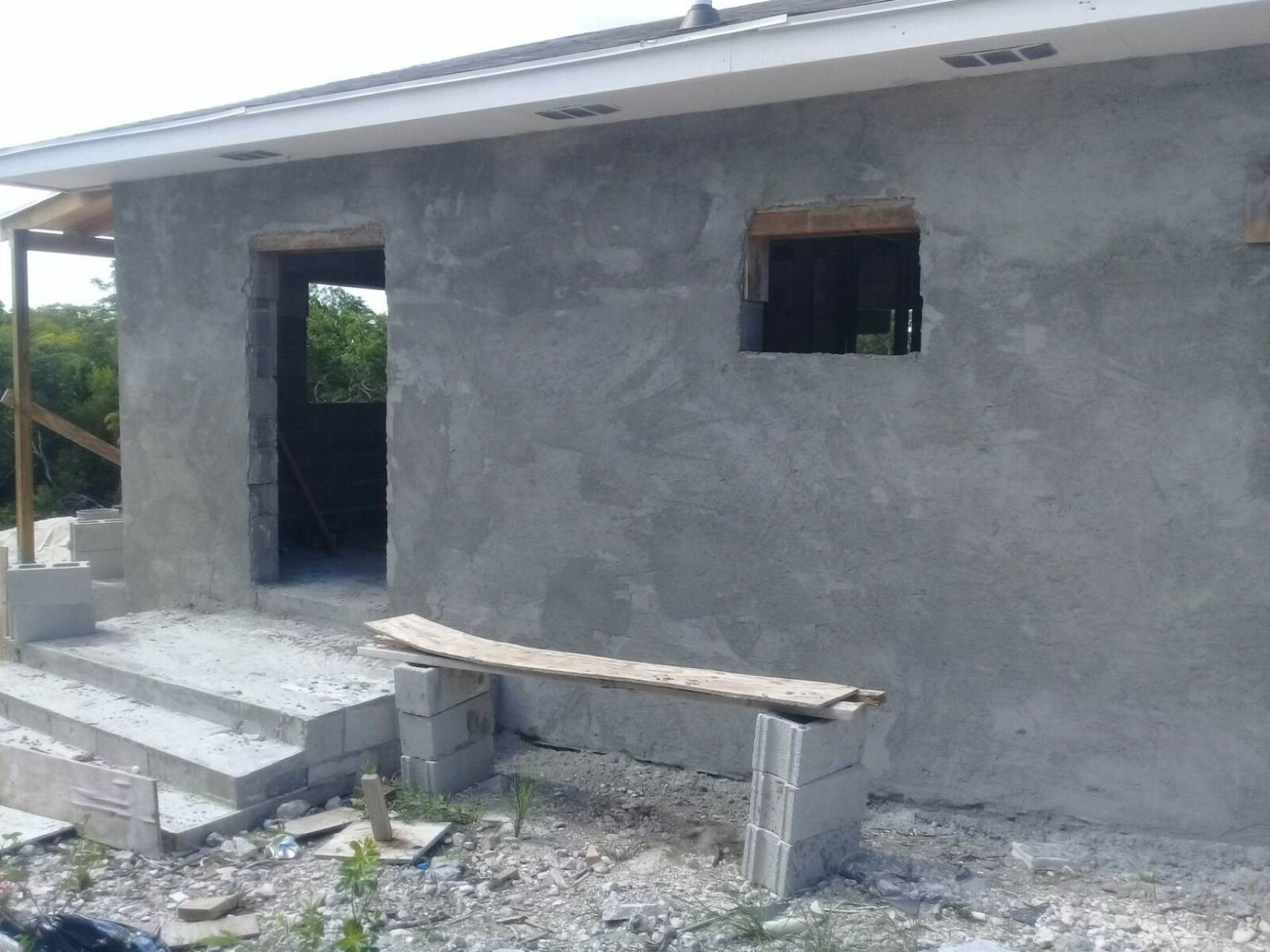 3. Single Family Homes for Sale at Unfinished House for Sale Near Jolly Hall Beach - MLS 35899 Bahama Sound, Exuma, Bahamas
