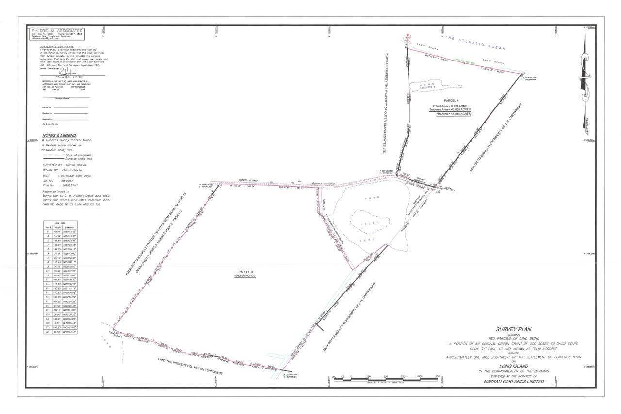 8. Land for Sale at Incredible Beachfront Acreage, Long Island - MLS 42303 Clarence Town, Long Island, Bahamas