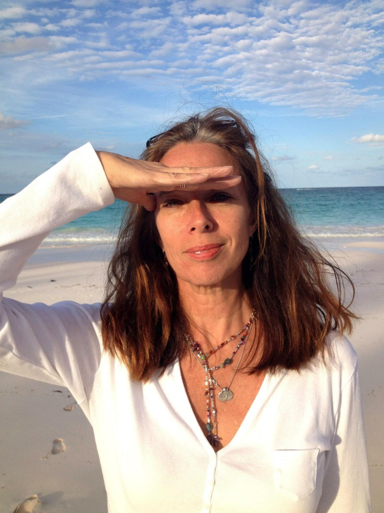 Anne Bethel on beach in Eleuthera