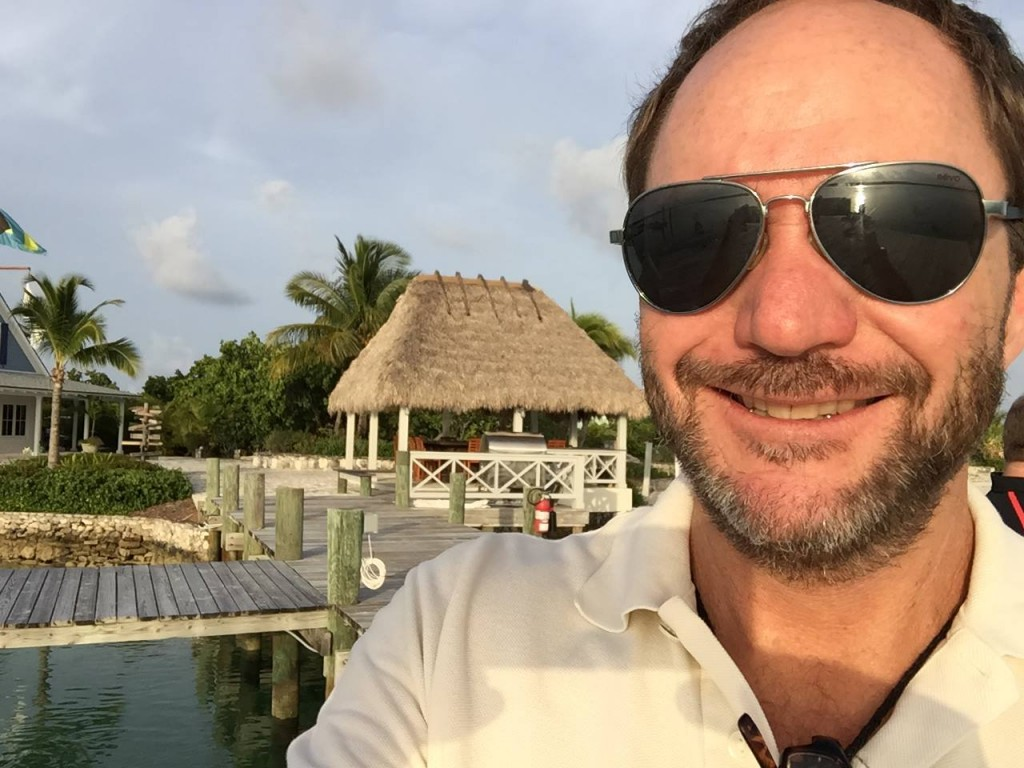 John enjoying Private Island insights at Deep Water Cay in Grand Bahama